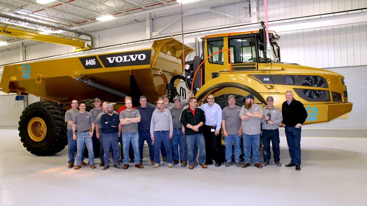 Volvo North America Going For Gold Volvo Ce North America Celebrates Articulated